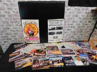 Lot of Decals, Racing Advertisements, and Posters