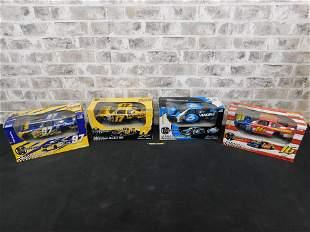 Lot of 4 NASCAR Motorworks Die-Cast Model Kits.