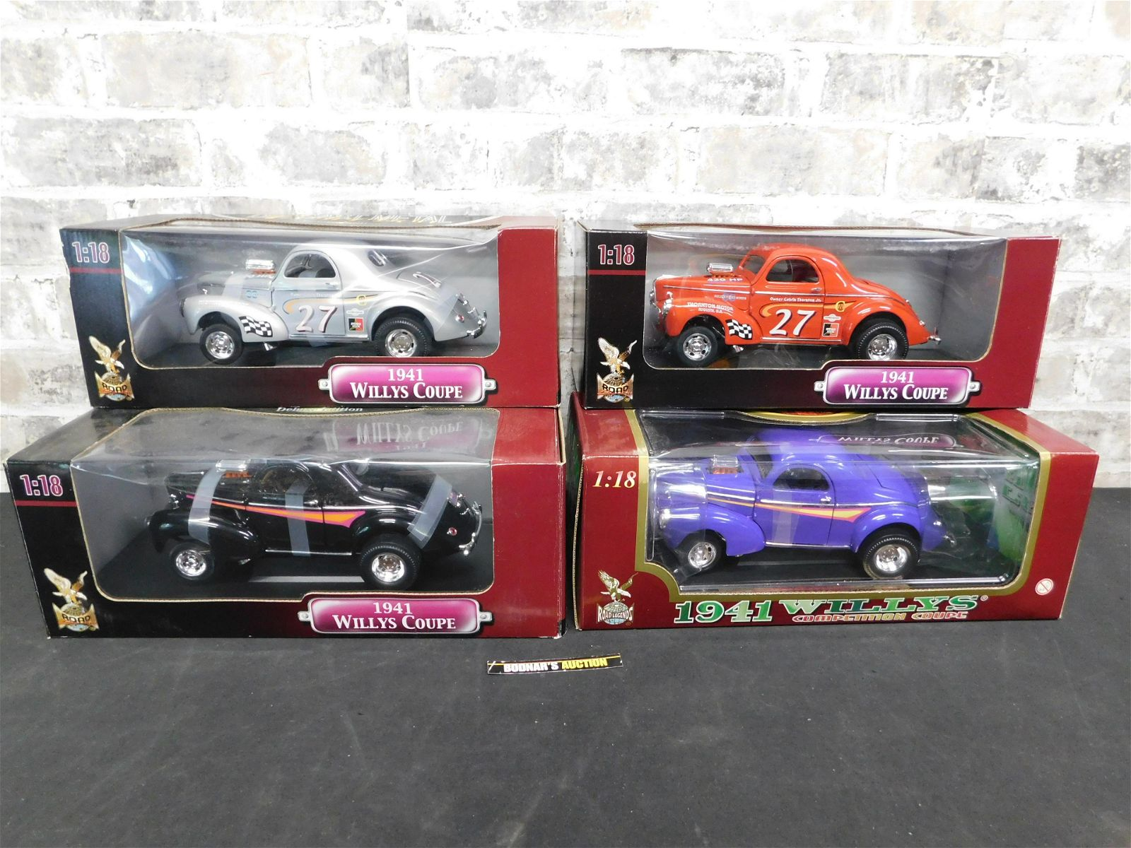 Lot of 4 Road Signature 1941 Willy's Coupe 1:18 Scale