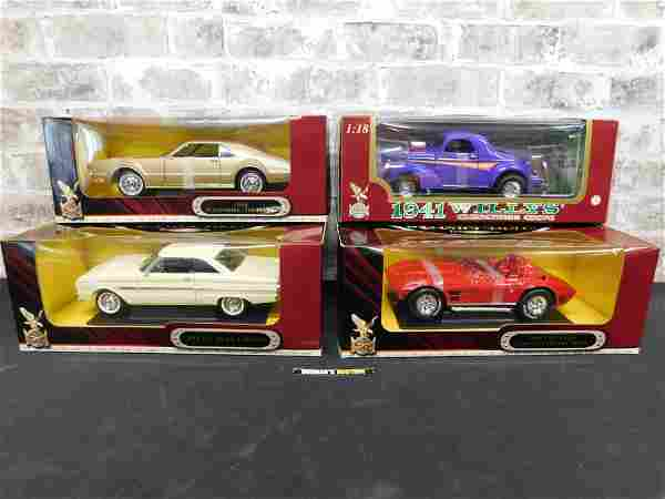 Lot of 4 Road Signature 1:18 Scale Die-Cast Cars