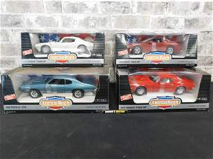 Lot of 4 American Muscle Pontiac 1:18 Scale Die-Cast
