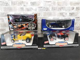 Lot of 4 1:18 Scale Diecast Cars