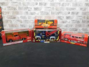Lot of 4 1:18 Scale Die-Cast Cars including Sun Star