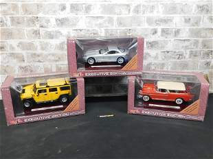 Lot of 3 Maisto Executive Edition 1:18 Scale Diecast