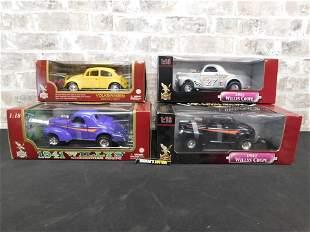 Lot of 4 Road Legends/Signature 1:18 Scale Diecast Cars