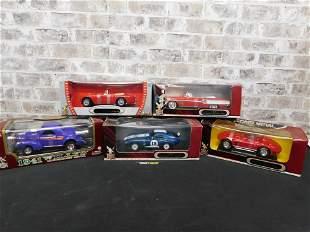 Lot of 5 Road Signature/Legends 1:18 Scale Diecast Cars