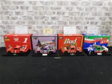 Lot of 4 Revell NASCAR 1:18 Scale Diecast Cars
