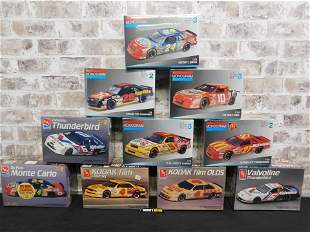 Lot of 10 Sealed AMT and Monogram NASCAR Model Kits