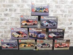 Lot of 10 Sealed AMT NASCAR Model Kits