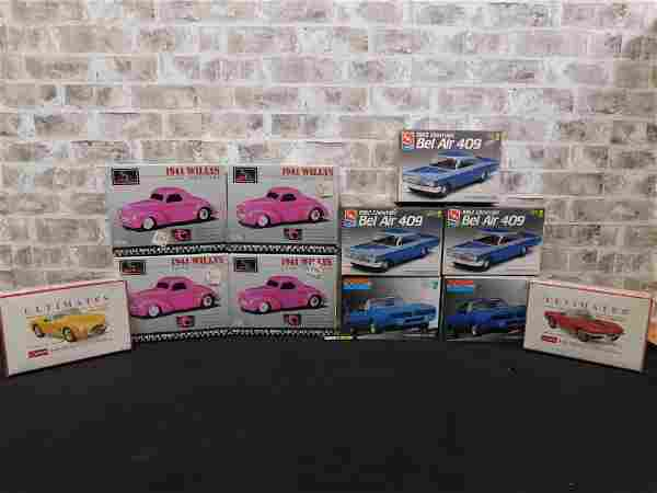 Lot of 11 Sealed and Unsealed Car Model Kits