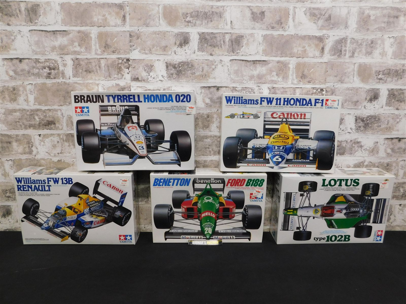 Lot of 5 Sealed Tamiya Grand Prix Model Kits