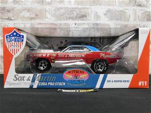 Sox & Martin Plymouth 70 Hemi Cuda Pro Stock Diecast