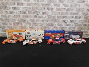 Lot of 4 Action Racing NASCAR 1:18 Scale Die-Cast Cars