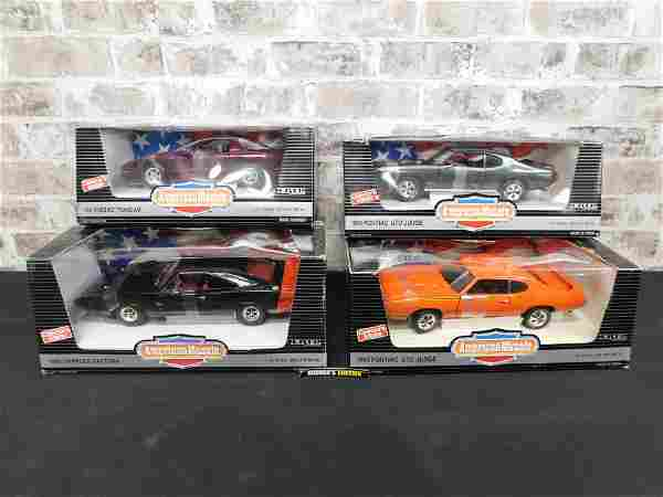 Lot of 4 American Muscle 1:18 Scale Die-Cast Cars