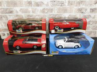 Lot of 4 Revell 1:18 Scale Die-Cast Cars