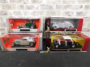 Lot of 4 Ford Road Signature 1:18 Scale Die-Cast Cars