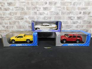 Lot of 3 Anson 1:18 Scale Die-Cast Cars