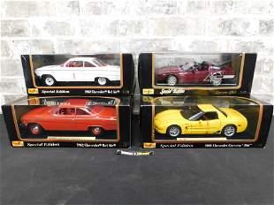 Lot of 4 Maisto Chevrolet Diecast Cars