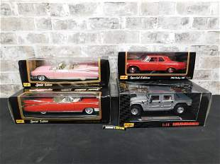 Lot of 4 Maisto 1:18 Scale Die-Cast Cars