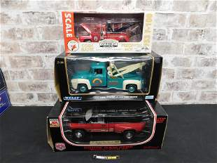 Lot of 3 Die-Cast Trucks - Tow Trucks and Pick Up