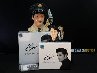 Lot of 2 Royal Doulton Elvis Character Jugs in Original