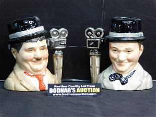 Laurel and Hardy Royal Doulton Character Jugs