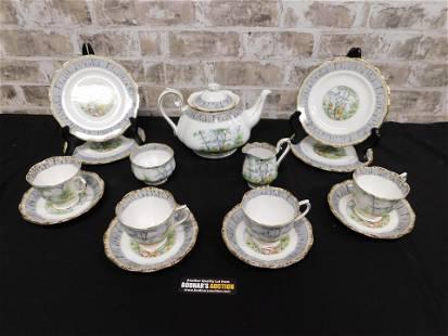 Royal Albert Tea Set - Silver Birch