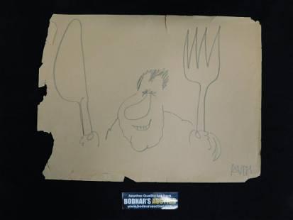 Hand Drawn Political Cartoon by Tony Auth