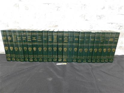 Lot of 23 The Harvard Classics Leatherbound Books