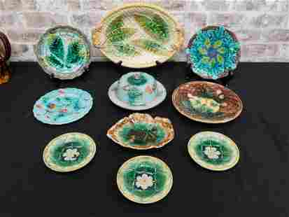 Group Lot of Majolica Pieces