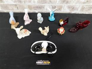 Lot of Mostly Fenton Art Glass Animal Figurines