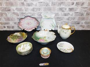 Lot of Hand Painted Porcelain Items including Noritake