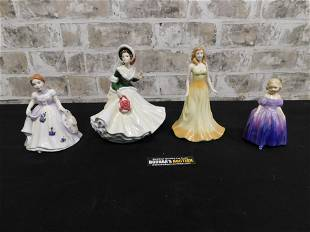 Group Lot of 4 Royal Doulton Lady Figurines