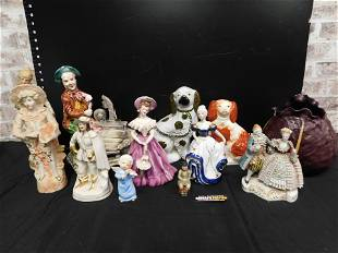 Lot of Figurines including Staffordshire Dogs