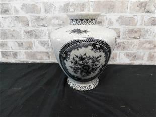 Ironstone Oriental Tall Vase