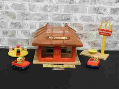 Vintage Fisher Price McDonald's Playset with