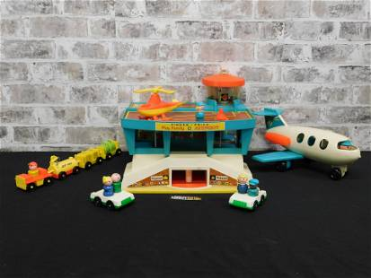 Vintage Fisher Price Play Family Airport