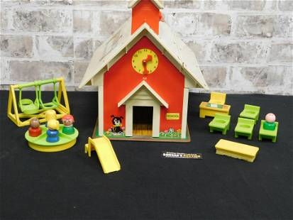 Vintage Fisher Price Play Family Schoolhouse