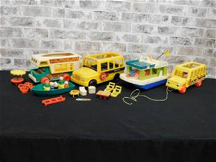 Lot of Vintage Fisher Price Toys