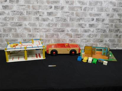 Lot of Vintage Fisher Price and Playskool Toys