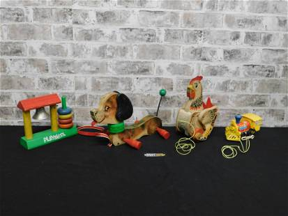 Lot of Vintage Playskool and Fisher Price Toys