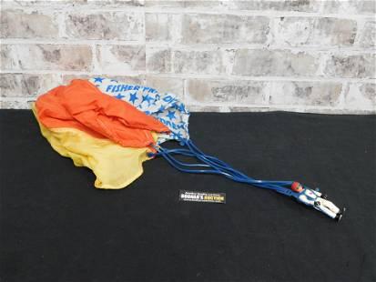 Vintage Fisher Price Parachuting Man with Parachute