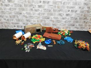 Lot of 1980's Playset Toy Soldiers and Action Figures
