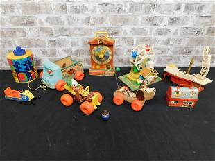 Large Lot of Vintage Fisher Price Toys