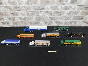 Lot of Diecast Tractor Trailers
