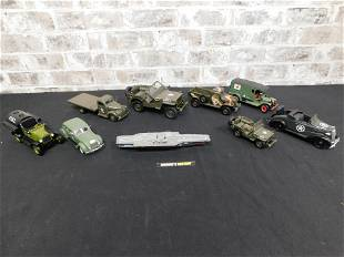 Lot of Diecast Military Vehicles and Aircraft Carriers