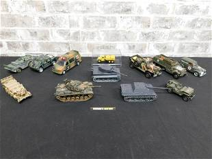 Lot of Diecast Military Vehicles and Tanks