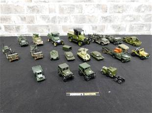 Mixed Lot of Diecast and Plastic Military Vehicles