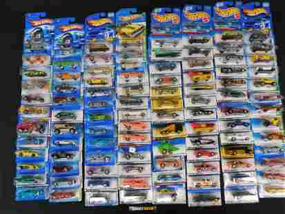 Lot of 100 Hot Wheels Carded Cars