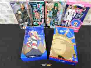 Lot of 4 Barbies and a Monster High Doll